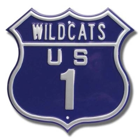 WILDCATS US 1 Route Sign