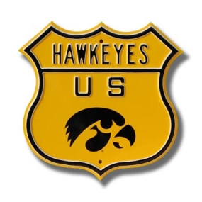 HAWKEYES Tigerhawk logo Route Sign