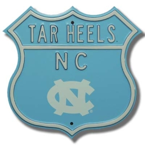 TAR HEELS NC logo Route Sign