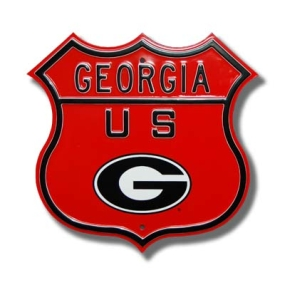 "GEORGIA US Oval ""G"" logo Route Sign"