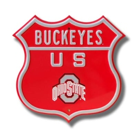 BUCKEYES Ohio State logo Route Sign