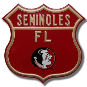 SEMINOLES Seminole logo Route Sign