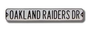 OAKLAND RAIDERS DR gray Street Sign