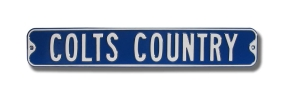 COLTS COUNTRY Street Sign