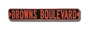 BROWNS BOULEVARD Street Sign