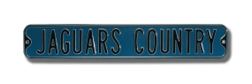 JAGUARS COUNTRY Street Sign