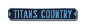 TITANS COUNTRY Street Sign