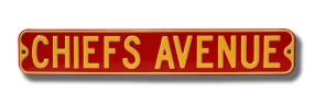CHIEFS AVENUE Street Sign