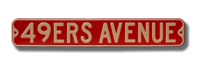 49ERS AVENUE Street Sign