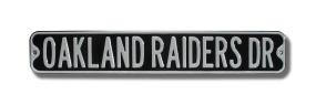 OAKLAND RAIDERS DR black Street Sign