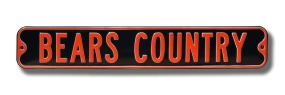 BEARS COUNTRY Street Sign