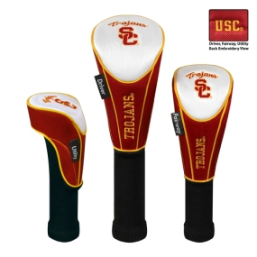 USC Trojans Set of 3 Golf Club Headcovers