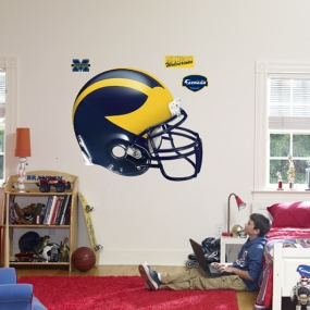 Michigan Wolverines Helmet Fathead