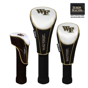 Wake Forest Demon Deacons Set of 3 Golf Club Headcovers