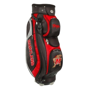 Maryland Terrapins Letterman's Club II Cooler Cart Golf Bag