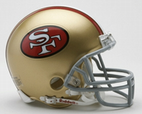 1964-1995 San Francisco 49ers Throwback Mini Helmet