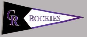 Colorado Rockies Vintage Classic Pennant