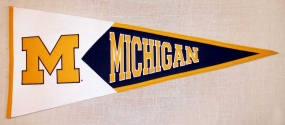 Michigan Wolverines Classic Pennant