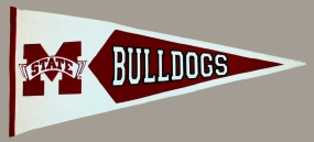 Mississippi State Bulldogs Classic Pennant