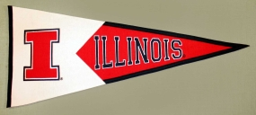 Illinois Fighting Illini Classic Pennant