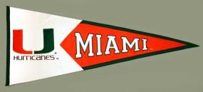 Miami Hurricanes Classic Pennant