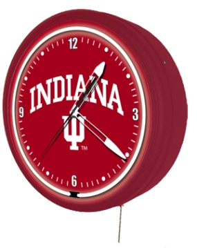 Indiana Hoosiers Jumbo Neon Clock