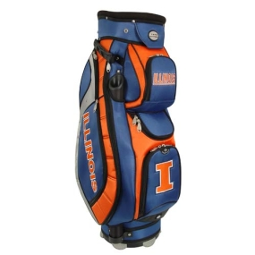 Illinois Fighting Illini Letterman's Club II Cooler Cart Golf Bag