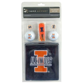 Illinois Fighting Illini Golf Gift Set