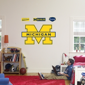Michigan Wolverines Maize Logo Fathead