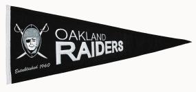 Oakland Raiders Throwback Pennant