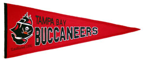 Tampa Bay Buccaneers Throwback Pennant