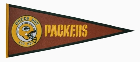 Green Bay Packers Pigskin Pennant Traditions Pennant