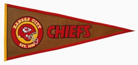 Kansas City Chiefs Pigskin Pennant Traditions Pennant