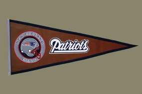 New England Patriots Pigskin Pennant Traditions Pennant