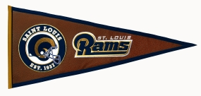 Saint Louis Rams Pigskin Pennant Traditions Pennant