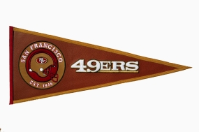 San Francisco 49ers Pigskin Pennant Traditions Pennant
