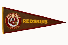 Washington Redskins Pigskin Pennant Traditions Pennant