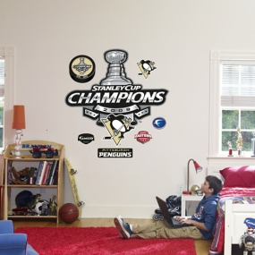 Pittsburgh Penguins Stanley Cup Champions Logo Fathead