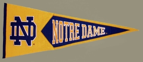 Notre Dame Fighting Irish Vintage Traditions Pennant