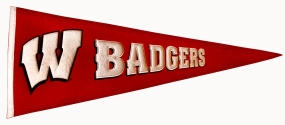 Wisconsin Badgers Vintage Traditions Pennant