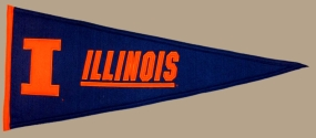 Illinois Fighting Illini Vintage Traditions Pennant