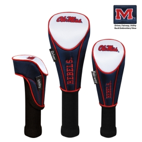 Mississippi Rebels Set of 3 Golf Club Headcovers