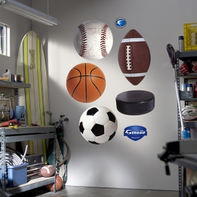 Assorted Sports Ball Graphics Fathead