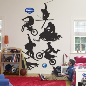 Assorted Action Sports Silhouettes Fathead