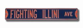 FIGHTING ILLINI AVE Navy Street Sign