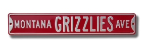 MONTANA GRIZZLIES AVE Street Sign