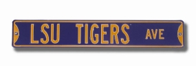LSU TIGERS AVENUE Purple Street Sign