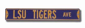 LSU TIGERS AVENUE Purple Street Sign