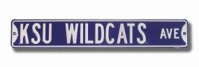 KSU WILDCATS AVE Purple Street Sign