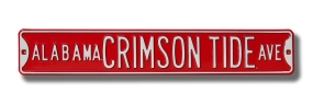 ALABAMA CRIMSON TIDE AVE Street Sign